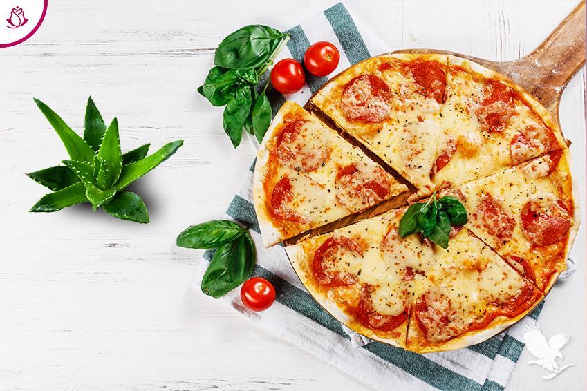 pizza con aloe