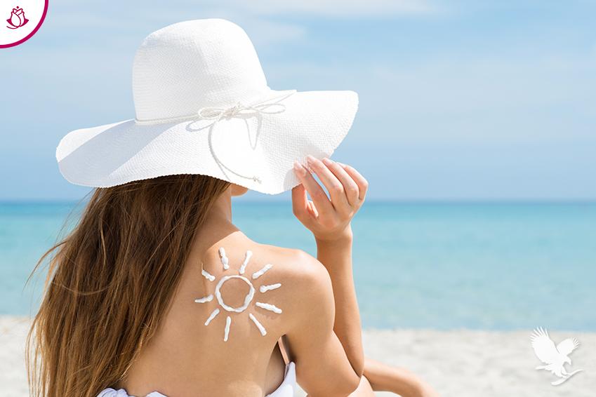 donna sotto il sole