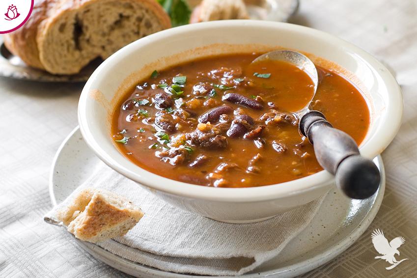 Zuppa di Fagioli e Aloe Vera