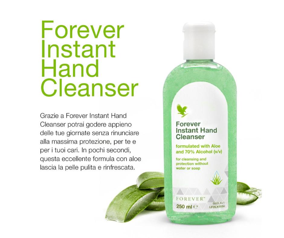 NUOVO FOREVER INSTANT HAND CLEANSER - ani accuratamente pulite ovunque ti trovi! - SuccoAloeVera - Forever Living