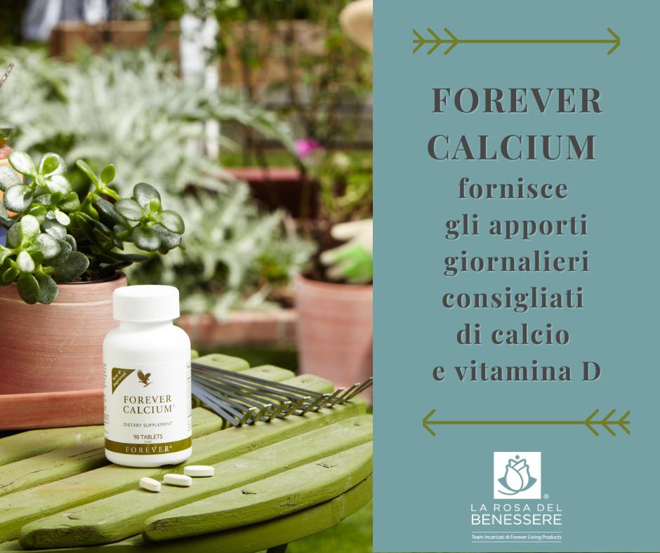FOREVER CALCIUM fornisce gli apporti giornalieri consigliati di calcio e vitamina D - SuccoAloeVear - Forever