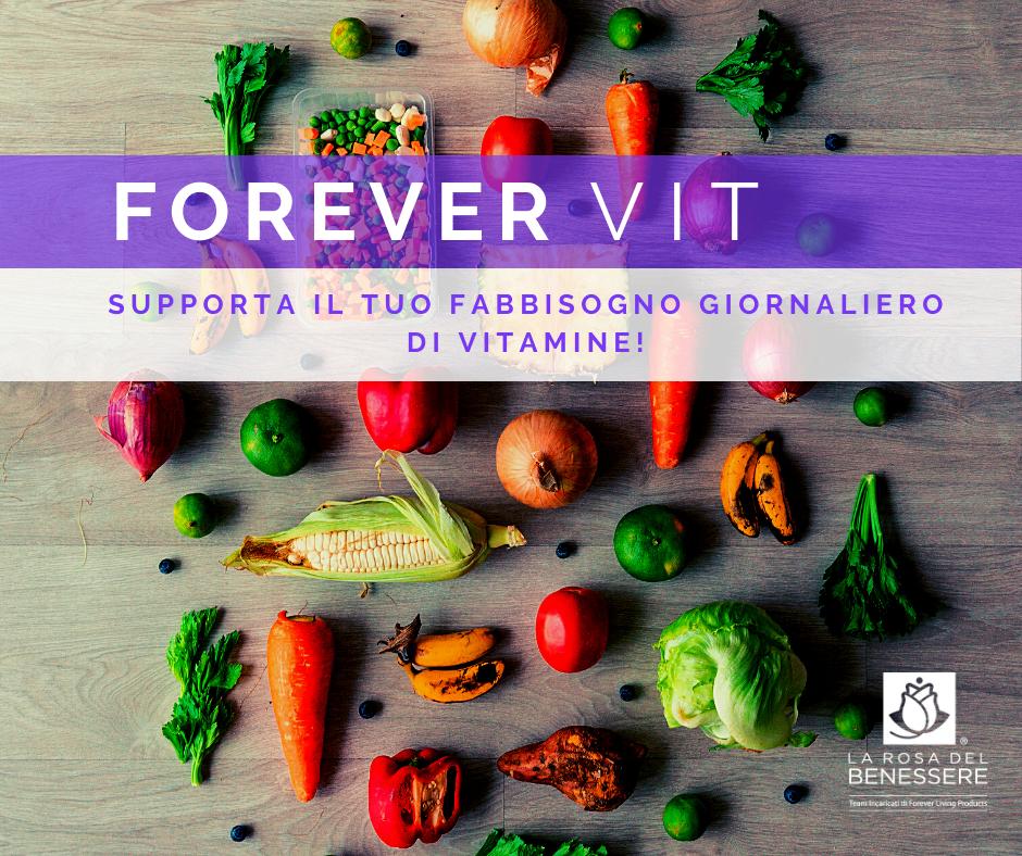 FOREVER VIT - Supporta il tuo fabbisogno giornaliero di vitamine! - Succoaloevera - Forever Living