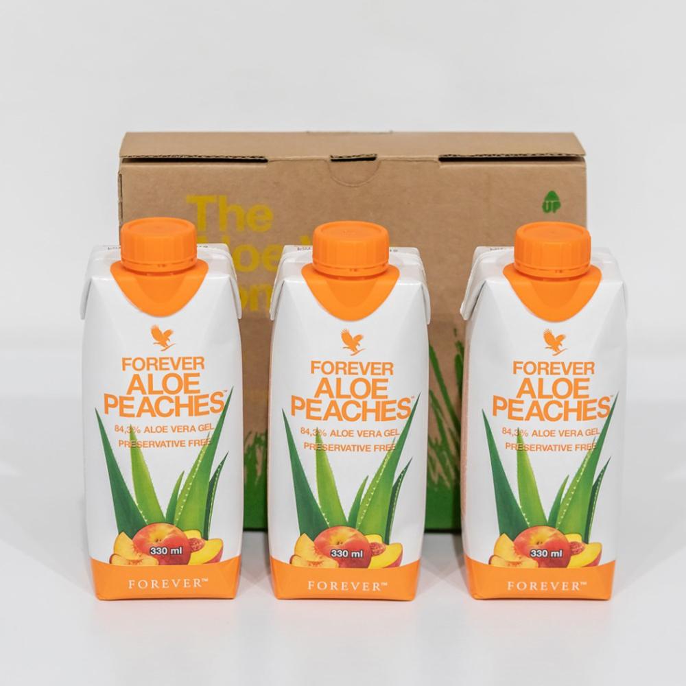 Mini Tripack 330 ml Aloe Peaches