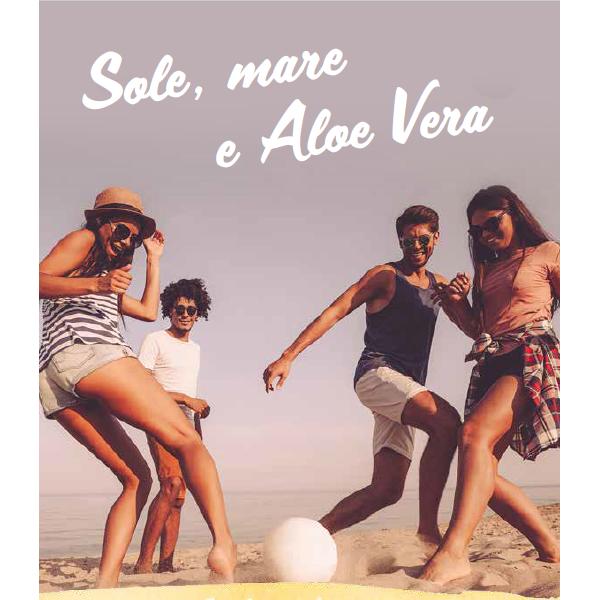 """DEPLIANT """"SOLE, MARE E ALOE VERA (25 pz)"""